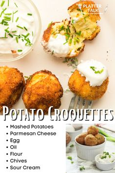 Learn the how to use mashed potatoes with this easy croquettes recipe from Platter Talk! Croquettes Recipe, Potato Croquettes, Easy Potato Recipes, Leftover Mashed Potatoes, Kid Friendly Meals, Recipe Of The Day, Platter, Food Videos, Easy Meals