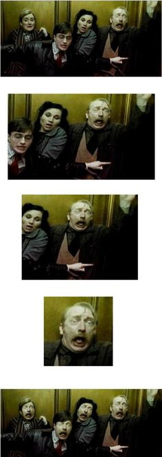Funny face swap photobombs (Geek Stuff Harry Potter)