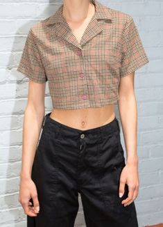 brandy melville plaid cardigan button up for Sale in La Habra, CA - OfferUp Plaid Outfits, Crop Top Outfits, Cute Casual Outfits, Aesthetic Fashion, Aesthetic Clothes, Mode Chanel, Girl Fashion, Fashion Outfits, Looks Vintage