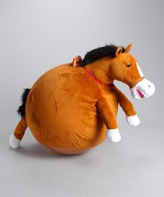 Take a look at this Mr. Jones Horse Jumping Ball by Waliki on #zulily today! This is the best toy I've seen in my LIFE. SO FUNNY!!!!!