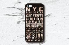 iPhone 5 Case, iPhone 5S Case - New York Streets / iPhone 5S Case, iPhone 5S Cover, Cover for iPhone 5S, Case for iPhone 5S