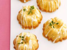 Mini Olive Oil Cakes with Lemon Glaze
