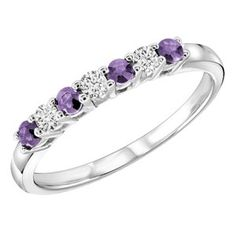 Amethyst and diamond ring <3 white gold