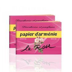 Papier d`Armenie geurboekjes  La rose