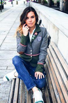 Frauen Jacken, Blazer & Mäntel - Trachten Jacken Mirabell Plummer Blazer, Green And Grey, Mantel, Jackets For Women, Costumes, Coat, Style, Fashion, Jackets