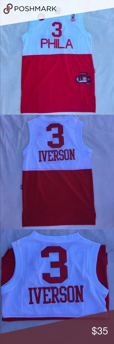 NBA CLASSIC Allen Iverson Jersey Old school, classic Allen Iverson Philadelphia jersey. Just sits in my closet for years, which is why the number sewing is falling apart. But over all, still in great shape. Reebok Other
