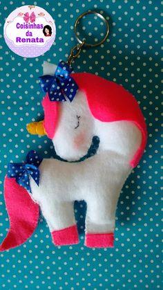 Coisinhas da Renata: Chaveiro Unicórnio em Feltro.... Elephant Template, Diy And Crafts, Crafts For Kids, Felt Crafts Patterns, Unicorn Pillow, Unicorn Crafts, Christmas Crafts, Christmas Ornaments, Fabric Toys