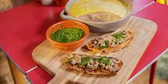 Try this Chicken Liver Pate Crostini with Salsa Verde recipe by Chef Michela Chiappa . This recipe is from the show Michela& Tuscan Kitchen. Chicken Liver Pate, Chicken Livers, Dip Recipes, Chicken Recipes, Cooking Recipes, Xmas Recipes, Cheese Appetizers, Appetizer Recipes, Salsa Verde Recipe