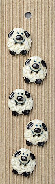 5 Smiling Sheep Buttons by SteamTrunkCraftWorks on Etsy