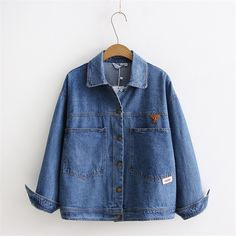 >> Click to Buy << 2017 spring and autumn new boyfriend style large pocket denim outerwear female loose long-sleeve jacket tops short jackets M L #Affiliate