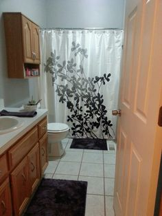 this look creepily like our bathroom