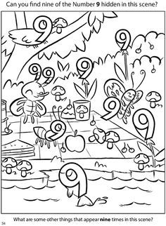 Welcome to Dover Publications Teaching Numbers, Numbers Preschool, Math Numbers, Preschool Worksheets, Kindergarten Math, Toddler Preschool, Teaching Math, Math Activities, Preschool Activities
