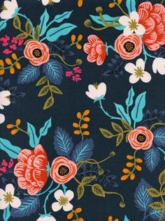 Fabric inspiration for the Liesl + Co SoHo Shorts and Skirt sewing pattern. rayon floral from Cotton and Steel