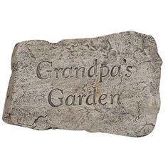 Garden Greetings Grandpas Garden 10 inch Stone MS-1921