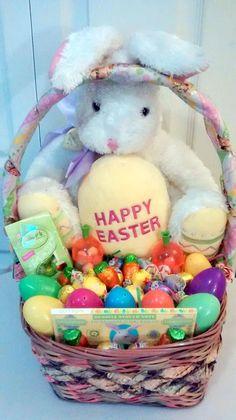 Some Bunny Loves You LG Bunny EASTER BASKET #Easter $55 @Ebay