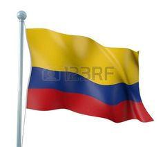Colombia Flag Detail Render