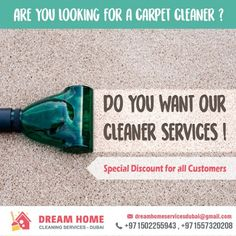 DREAM HOME PROFESSIONAL CLEANING SERVICES staffs are very well trained to use our upholstery cleaning machines. Not only that they can find ways to enhance