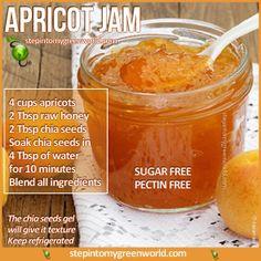 raw apricot chia seed refigerator jam