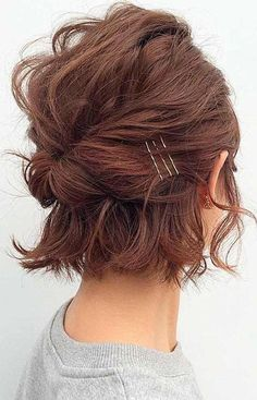 20 Bob Haircut Ideas for Valentine Day, Have you begun getting ready for the current year's Valentine's Day? Are you prepared with that simplest , trendiest haircut, which will enable you to…, Uncategorized - Hair Cutting Style Bob Wedding Hairstyles, New Short Hairstyles, Short Wedding Hair, Girl Short Hair, Short Hair Cuts, Short Bob Updo, Hairstyles 2016, Updo On Short Hair, Boho Hair Short
