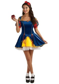 Women Costumes - Snow White Costume - Teen Costume brings the fairytale to life with a Princess Costume featuring a deep blue dress with gold piping, brooch, and headband. Snow White Halloween Costume, Halloween Costumes For Teens, Cute Halloween, Group Halloween, Toddler Halloween, Fashion Fantasy, K Fashion, Costumes For Teenage Girl, Costumes For Women