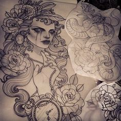 Tattoo artist Emily Rose Murray from Australia. I'm in love with this girls work! The inspiration for my next tattoo :)
