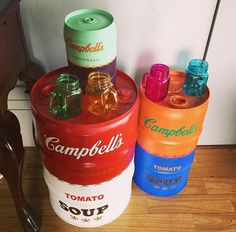 Campbell's Soup #campbells  #drum #oildrum #industrialdesign #barril #rebecaguerra #lata #decoração