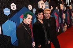 Tre Cool, Billie Joe Armstrong and Mike Dirnt of Green Day attend the MTV Europe Music Awards 2016 on November 6, 2016 in Rotterdam, Netherlands.