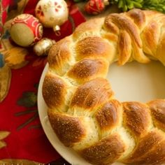 This Finnish Pulla Bread is the quintessential holiday bread. This Braided Yeast Bread Recipe is formed into a festive wreath. Bread Bin, Bread Board, Finnish Cuisine, Baking With Julia, Great Recipes, Favorite Recipes, Holiday Bread, Yeast Bread Recipes, Bread And Pastries