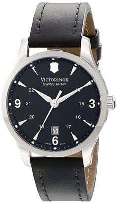 b04c900ff53 Victorinox Swiss Army Men s 241474 Alliance Black Dial and Strap Watch