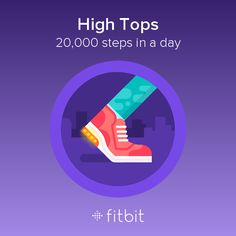 I took 20,000 steps and earned the High Tops badge! #Fitbit