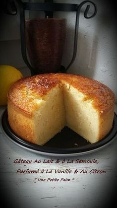 Milk & semolina cake, vanilla & lemon fragrant - Easy And Healthy Recipes Sweet Recipes, Cake Recipes, Dessert Recipes, Semolina Cake, Cupcake Cakes, Food Cakes, Köstliche Desserts, Food And Drink, Cooking Recipes