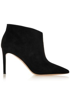 Black Ankle Boot - This one with a narrow heel and in suede goes from day to night
