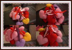 sevgililer günü yaklaşırken her yerde kalp varken herkes kalp yapsın dimi:)  kalp yapılışı; 2 parça örülecek 1-6  2-12  3-18  4-18  5-18  6...