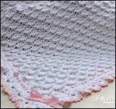 FLUFFY CLOUDS BABY BLANKET - CROCHET, $6.50