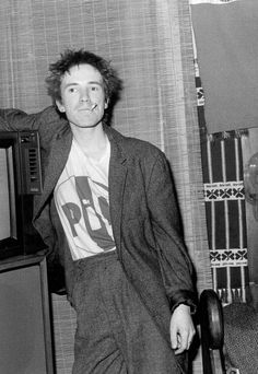 John Lydon at home photographed by Janette Beckman, 1979