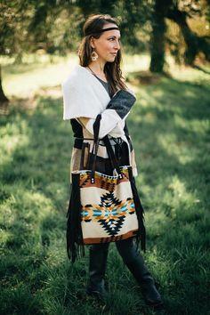 c072709635f6 Bohemian Fringe Tote bag in Pendleton Wool