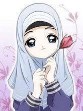 انمي محجبات Images Q Tbn And9gct Animasi Sketsa Imut