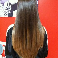 Straight ombre hair - bigger contrast from black hair