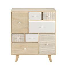 Cabinet 8 tiroirs en paulownia Spring x x MDM Corner Furniture, Kid Room Decor, Interior Furniture, Drawers, Cabinet, Furniture, Bathroom Design Luxury, Cool Furniture, Home Furnishings
