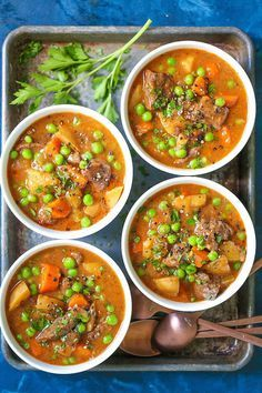 Instant Pot Beef Stew - The BEST beef stew recipe ever! So hearty, cozy and comforting! And it can be made SO EASILY right in your pressure cooker! Loaded with flavorful chunks of meat and potatoes that come out amazingly tender. Healthy Meal Prep, Healthy Recipes, Healthy Food, Skinny Recipes, Healthy Eating, Best Beef Stew Recipe, Soup Recipes, Cooking Recipes, Dinner Recipes