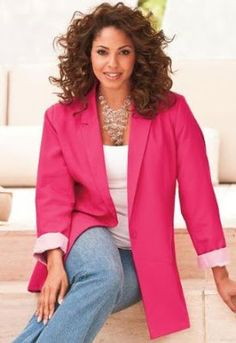 plus size 80's hot pink blazer - Bing images