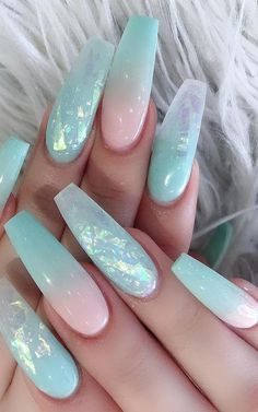 : phenomenal ombre nail art designs ideas for this year . 51 phenomenal ombre nail art designs ideas for this year part 41 Geln nails NailArt naildesign Nagel NagelKunst AccentNailsringfinger ChristmasNailsdippowder nailshape ombreAccentNails shor Nails Yellow, Blue Acrylic Nails, Summer Acrylic Nails, Summer Nails, Dark Nude Nails, Dark Nail Art, Mint Green Nails, Spring Nails, Cute Acrylic Nail Designs