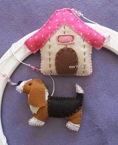 1001 Felt: Custom Decoration puppies pet.
