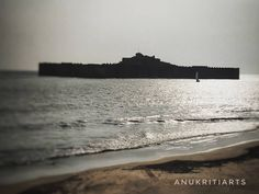 Murud-Janjira Fort is situated on an oval-shaped rock off the Arabian Sea coast near the port town of Murud, 165 km mi) south of… Arabian Sea, Places To Visit, Coast, Rock, Beach, Water, Outdoor, Water Water, Stone