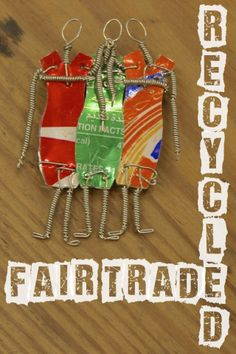 Check out Fair Trade items made out of recycled cans! Recycled Cans, Trash Art, Fair Trade, Making Out, Art Projects, Abstract Art, Recycling, Canvas Art, About Me Blog