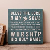 Lyrics for Life - Bless the Lord O My Soul - Wall Art from Dayspring