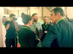 Simone Peter & Cem Özdemir beim Presserundgang mit ScobyTec - YouTube