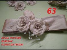 AULA 63: FAIXA DE BEBÊ COM FLORES DE TECIDO
