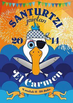 Carteles fiestas de El Carmen 2014