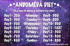 Two weeks, restrictive calories... Fasting involved! Good luck!